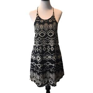 Urban Outfitters Small Boho Festival Black Dress